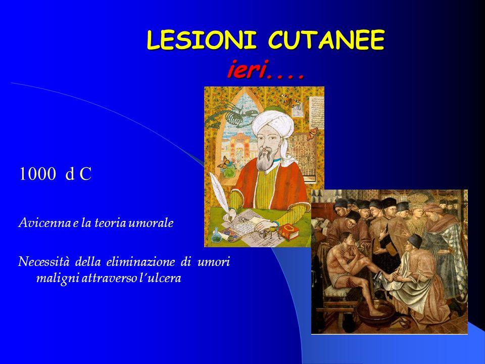 LESIONI CUTANEE ieri.... 1000 d C Avicenna e la teoria umorale