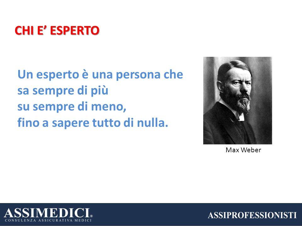 Un esperto è una persona che sa sempre di più su sempre di meno,