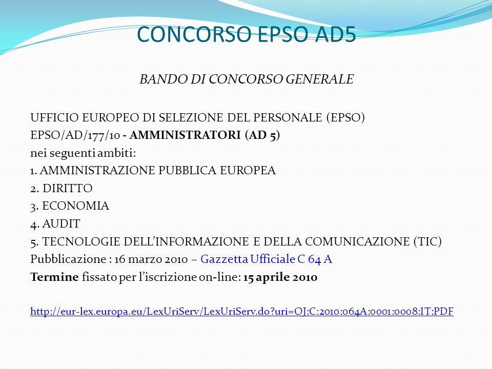 BANDO DI CONCORSO GENERALE