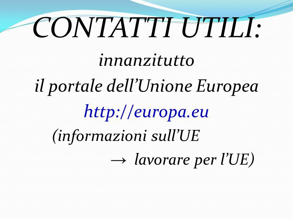 il portale dell'Unione Europea