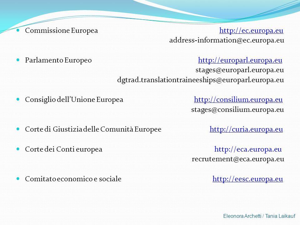Commissione Europea http://ec.europa.eu