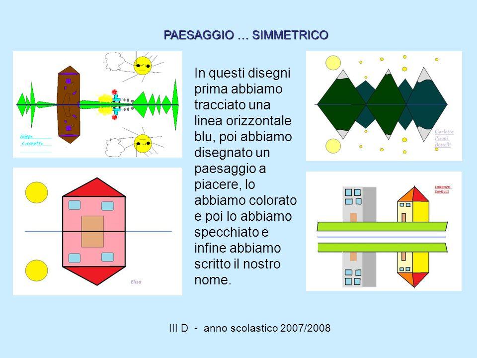 III D - anno scolastico 2007/2008