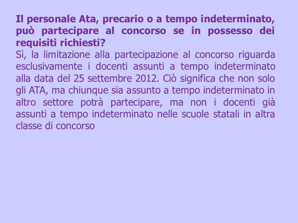 Il personale Ata, precario o a tempo indeterminato, può partecipare al concorso se in possesso dei requisiti richiesti