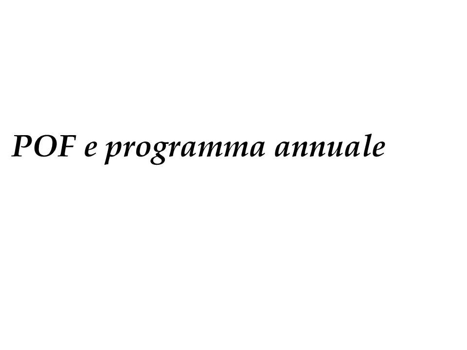 POF e programma annuale
