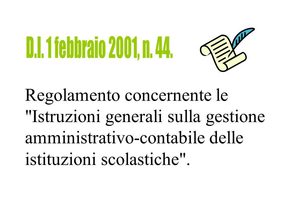 D.I. 1 febbraio 2001, n. 44.