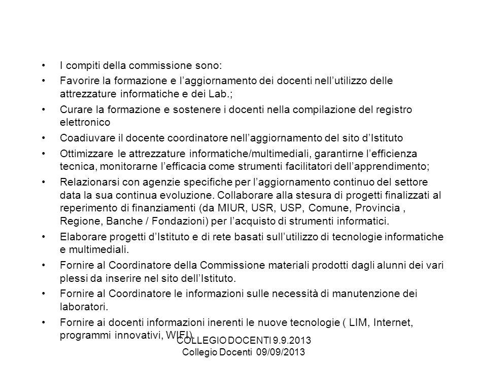 COLLEGIO DOCENTI 9.9.2013 Collegio Docenti 09/09/2013