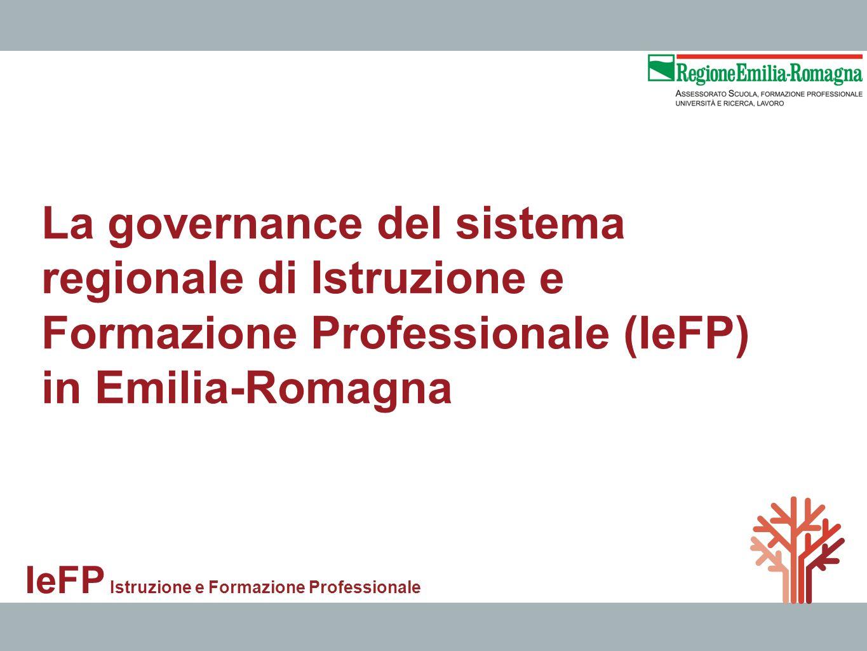 La governance del sistema regionale di Istruzione e Formazione Professionale (IeFP)
