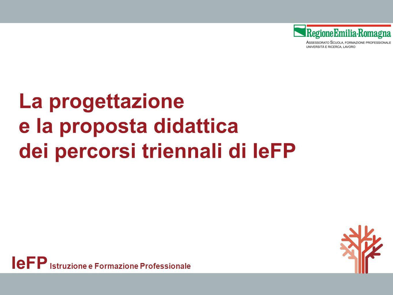 e la proposta didattica dei percorsi triennali di IeFP
