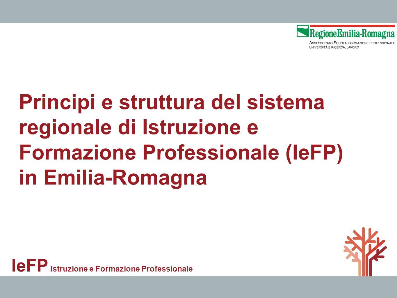 Principi e struttura del sistema regionale di Istruzione e Formazione Professionale (IeFP)