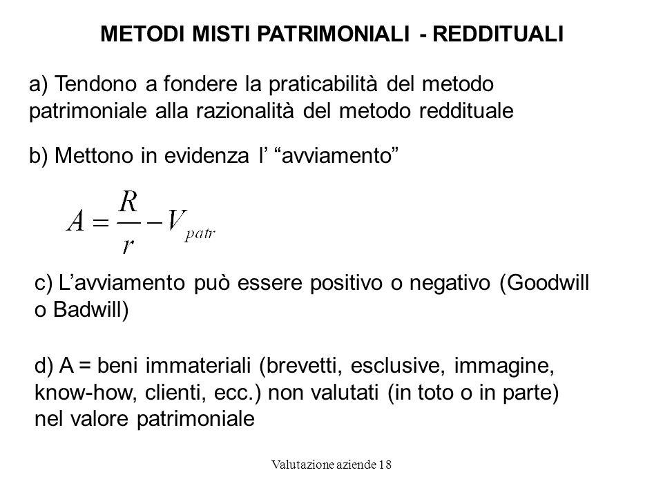 METODI MISTI PATRIMONIALI - REDDITUALI