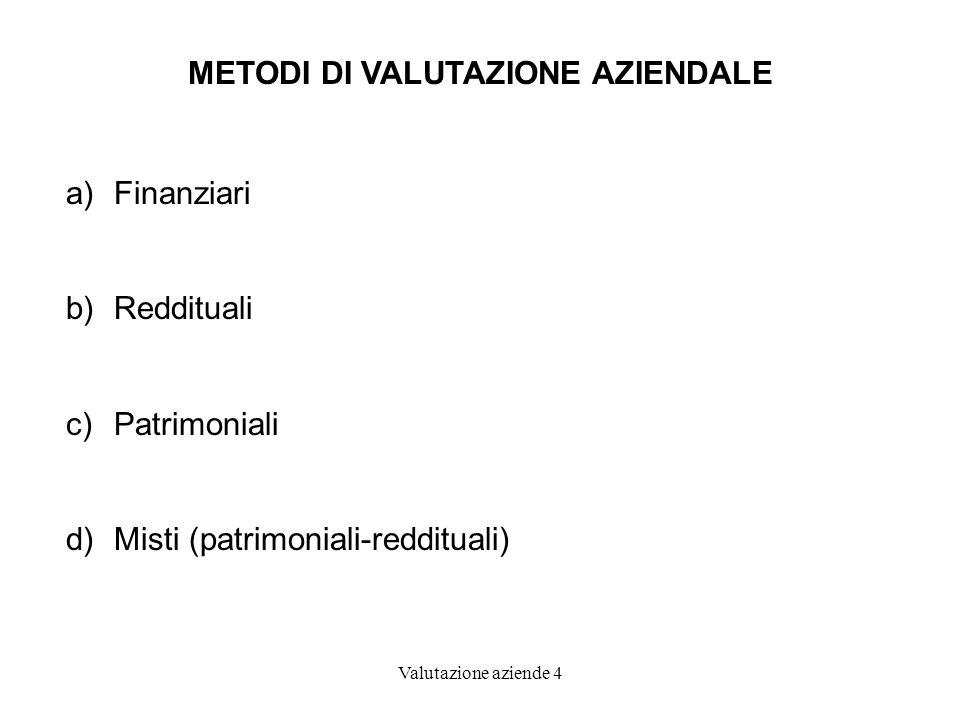 METODI DI VALUTAZIONE AZIENDALE