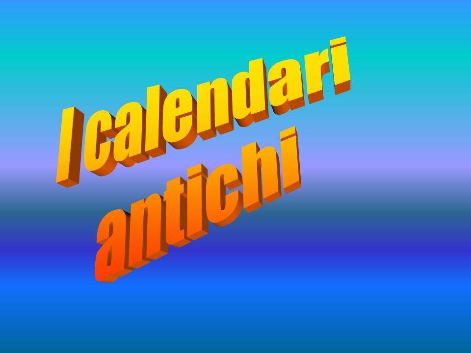 I calendari antichi