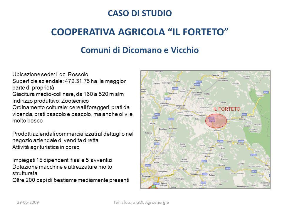 COOPERATIVA AGRICOLA IL FORTETO Comuni di Dicomano e Vicchio