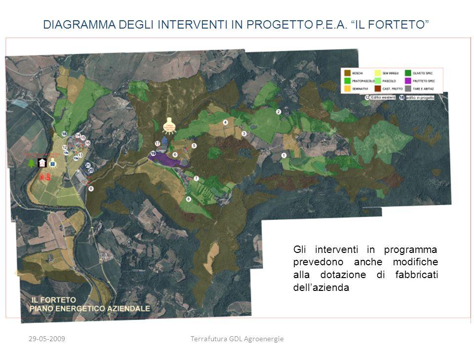 DIAGRAMMA DEGLI INTERVENTI IN PROGETTO P.E.A. IL FORTETO