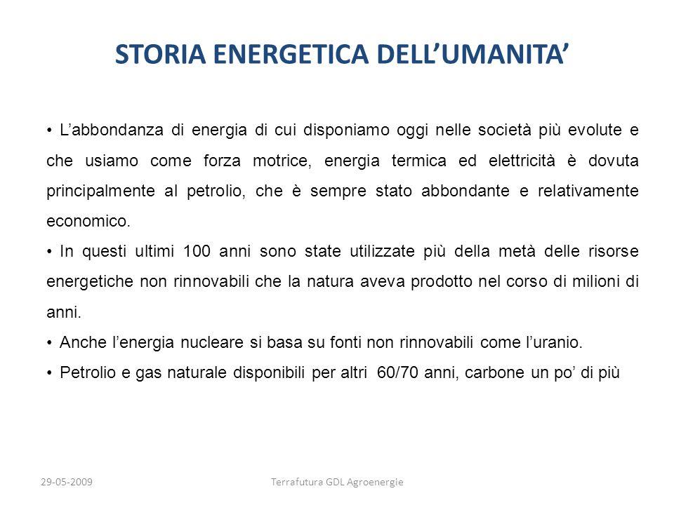 STORIA ENERGETICA DELL'UMANITA'
