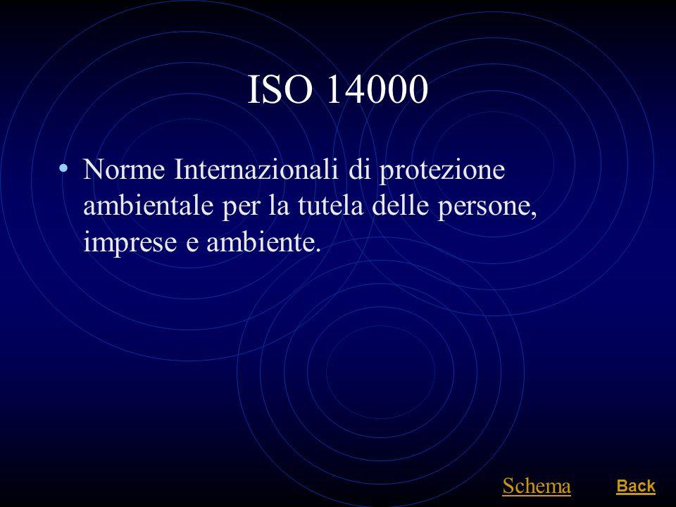 ISO 14000 Norme Internazionali di protezione ambientale per la tutela delle persone, imprese e ambiente.