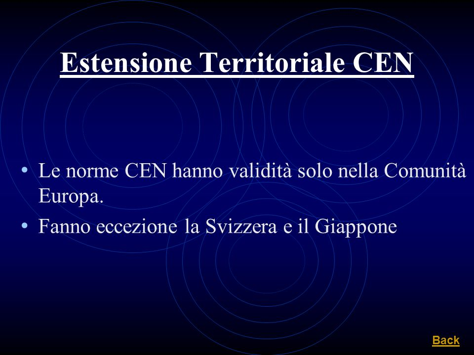 Estensione Territoriale CEN