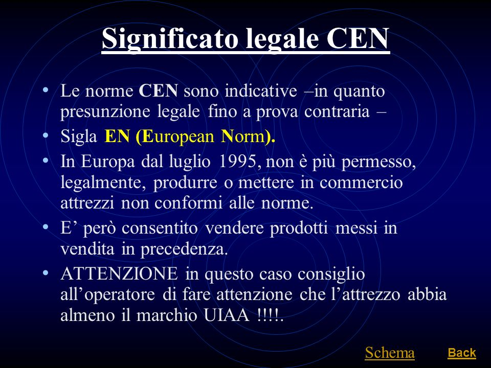 Significato legale CEN