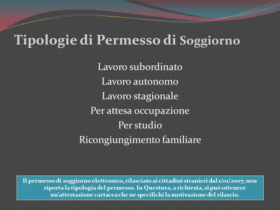 Emejing Carta Di Soggiorno Per Ricongiungimento Familiare Gallery ...