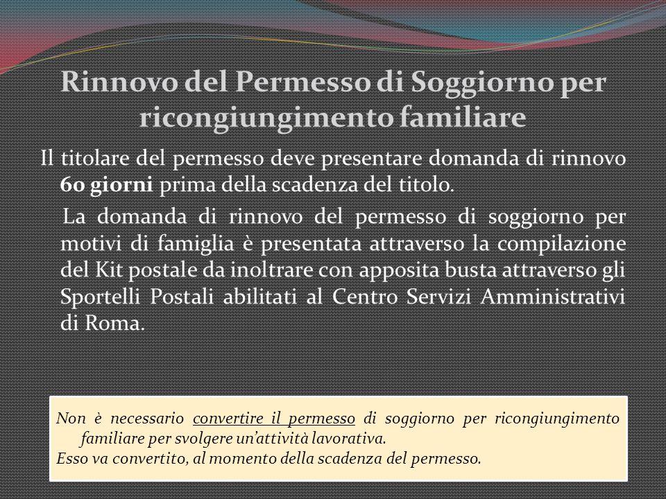 Richiesta rinnovo e conversione permesso di soggiorno for Controllo permesso di soggiorno online poste italiane