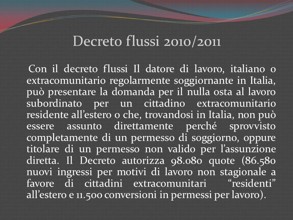 Decreto flussi 2010/2011