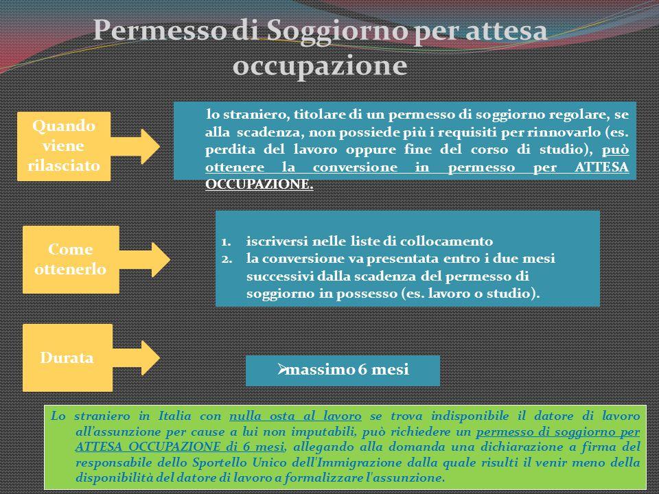 Tipologie di permesso di soggiorno ppt scaricare for Permesso di soggiorno illimitato per extracomunitari