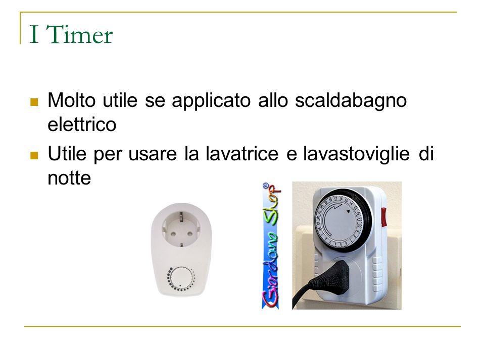 I Timer Molto utile se applicato allo scaldabagno elettrico
