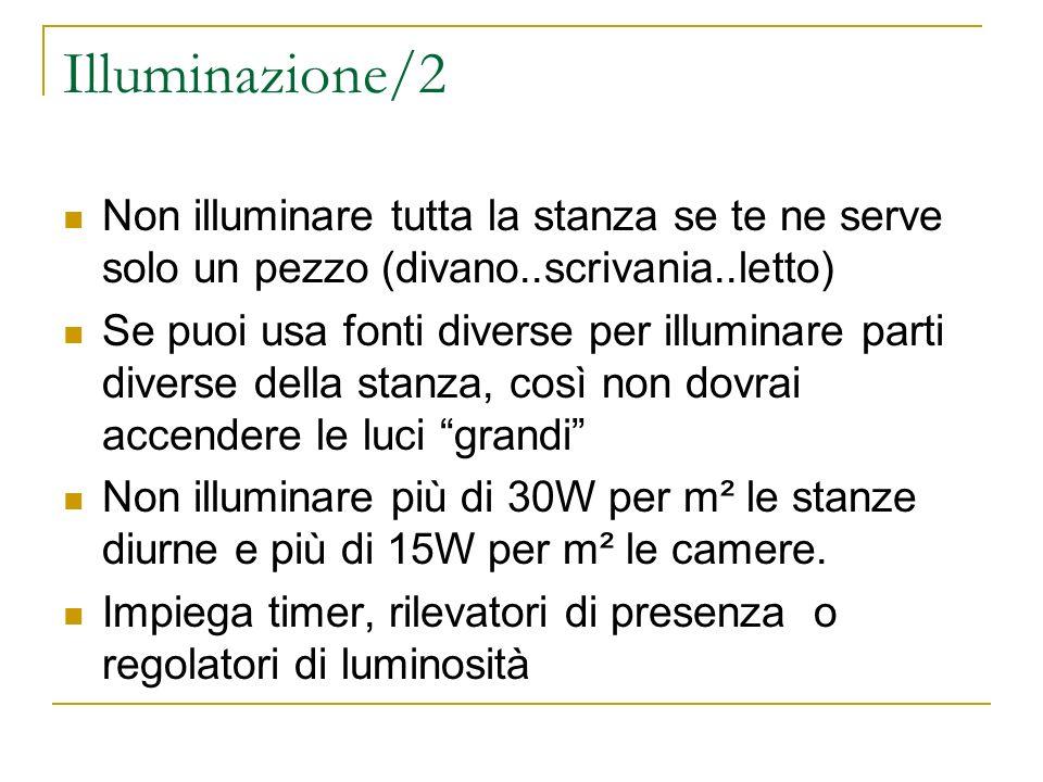 Illuminazione/2 Non illuminare tutta la stanza se te ne serve solo un pezzo (divano..scrivania..letto)