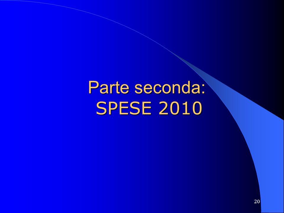 Parte seconda: SPESE 2010