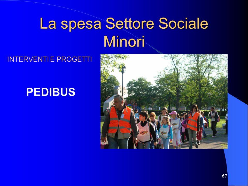 La spesa Settore Sociale Minori
