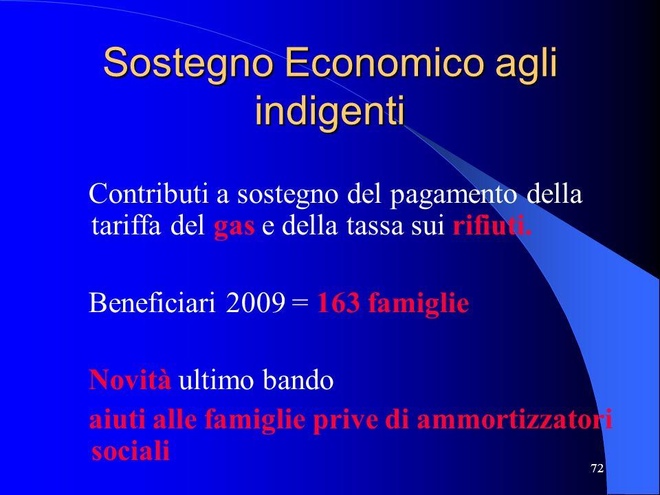 Sostegno Economico agli indigenti