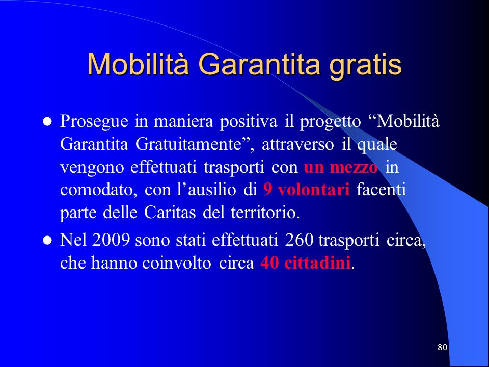 Mobilità Garantita gratis