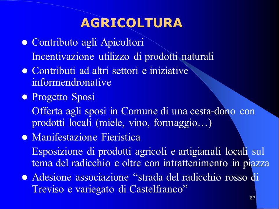 AGRICOLTURA Contributo agli Apicoltori