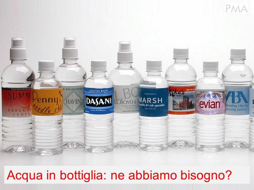 Acqua in bottiglia: ne abbiamo bisogno