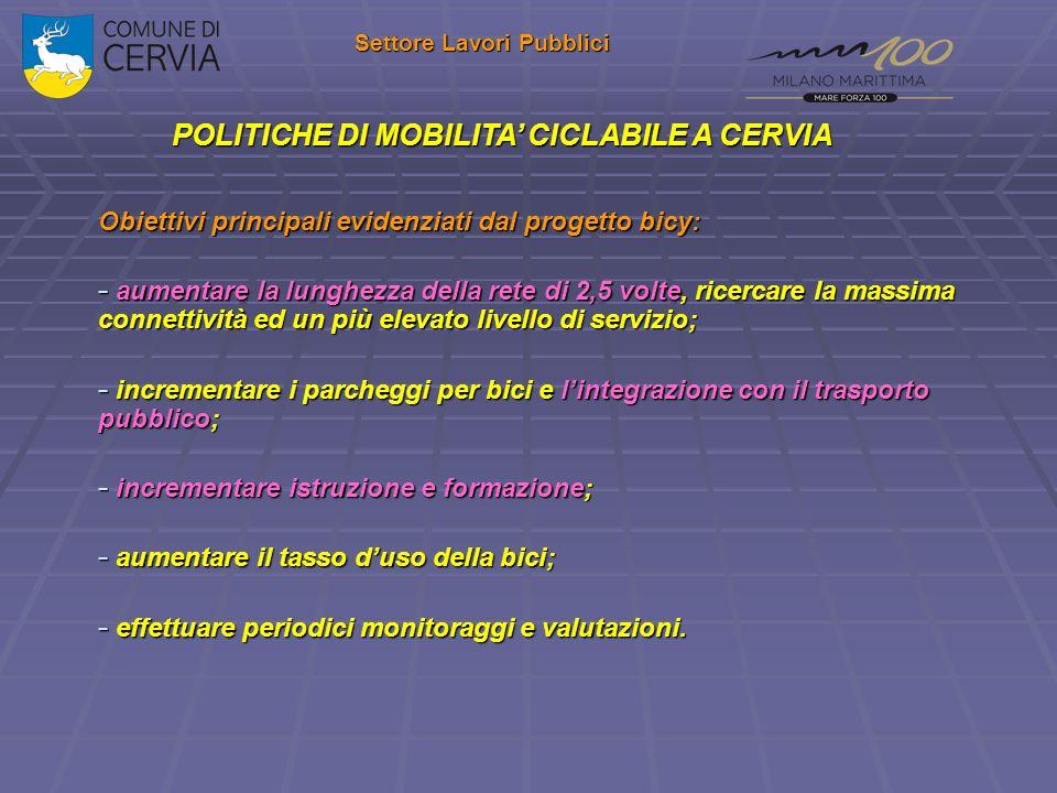 Settore Lavori Pubblici POLITICHE DI MOBILITA' CICLABILE A CERVIA
