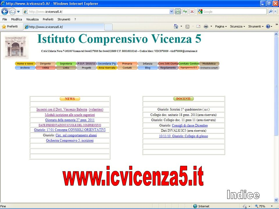 www.icvicenza5.it Indice