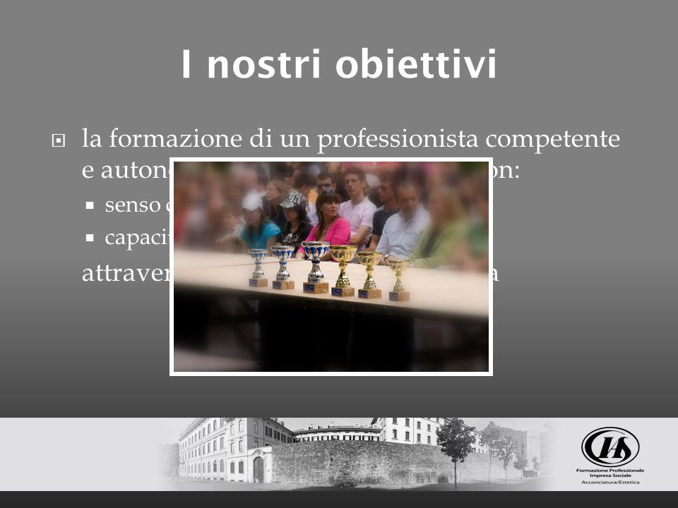 I nostri obiettivi la formazione di un professionista competente e autonomo nella propria attività con: