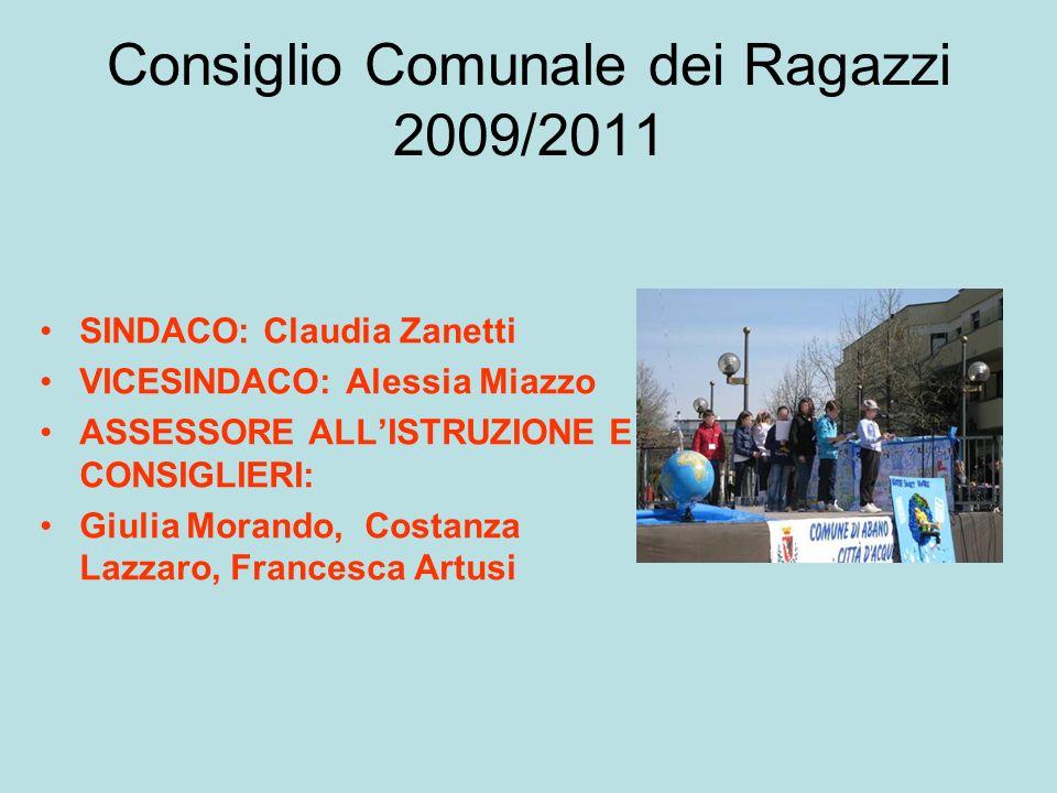 Consiglio Comunale dei Ragazzi 2009/2011