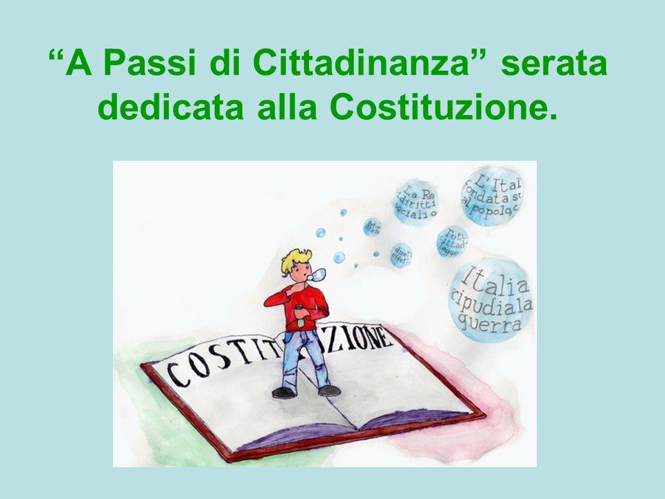 A Passi di Cittadinanza serata dedicata alla Costituzione.