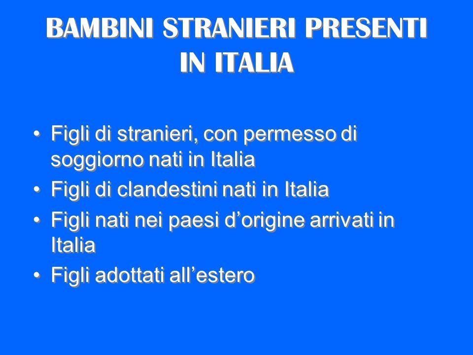 BAMBINI STRANIERI PRESENTI IN ITALIA