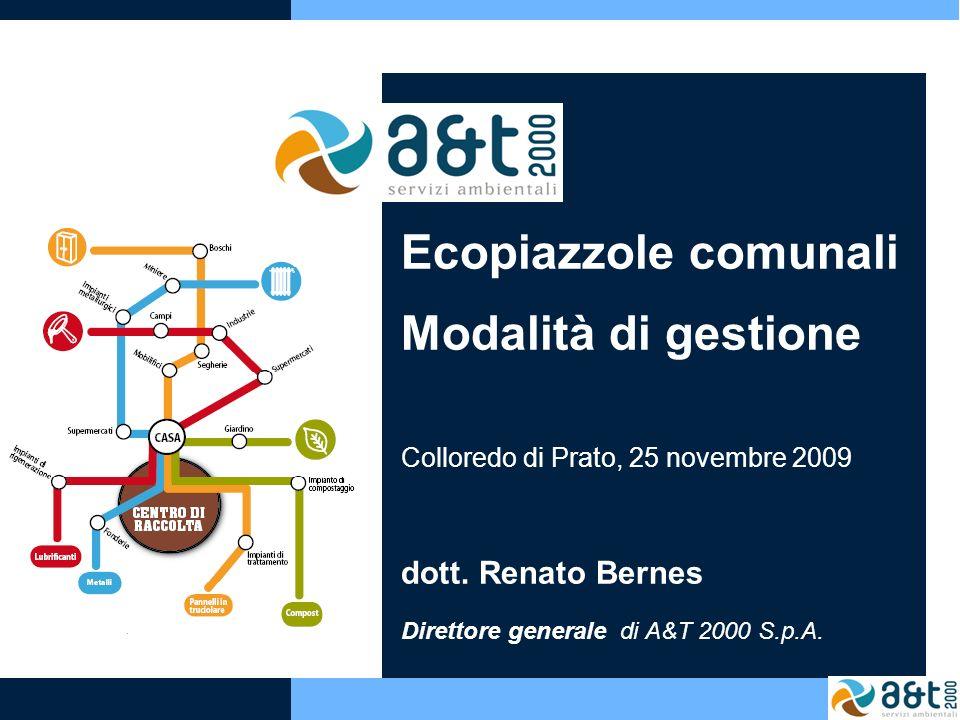 Ecopiazzole comunali Modalità di gestione dott. Renato Bernes