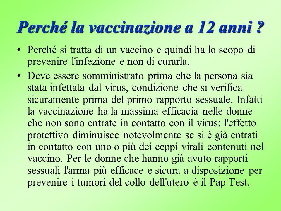 Perché la vaccinazione a 12 anni