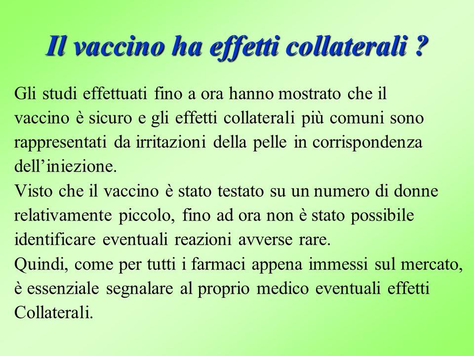 Il vaccino ha effetti collaterali