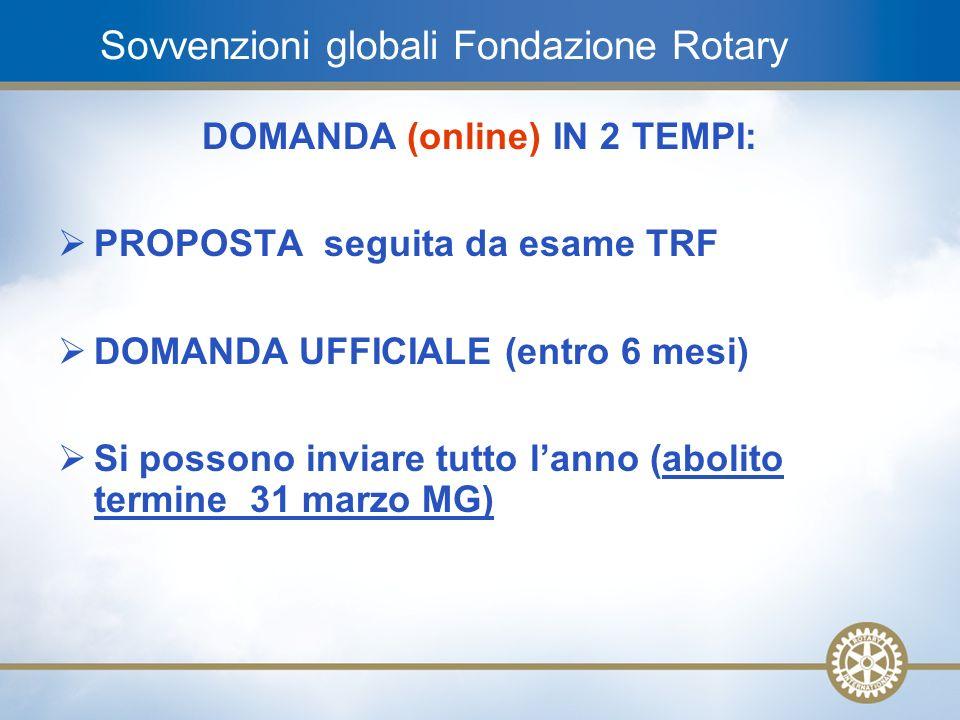Sovvenzioni globali Fondazione Rotary