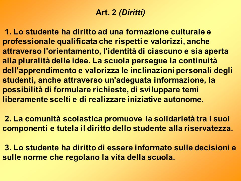 Art. 2 (Diritti)