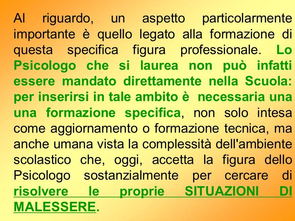 Al riguardo, un aspetto particolarmente importante è quello legato alla formazione di questa specifica figura professionale.