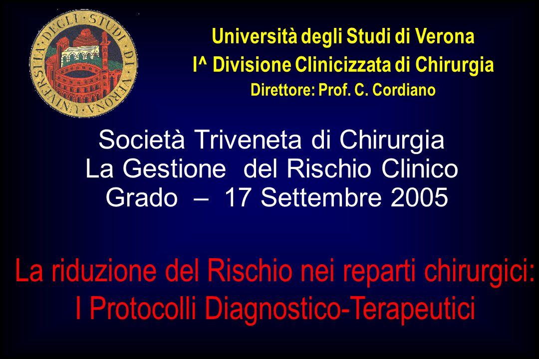 Università degli Studi di Verona Direttore: Prof. C. Cordiano