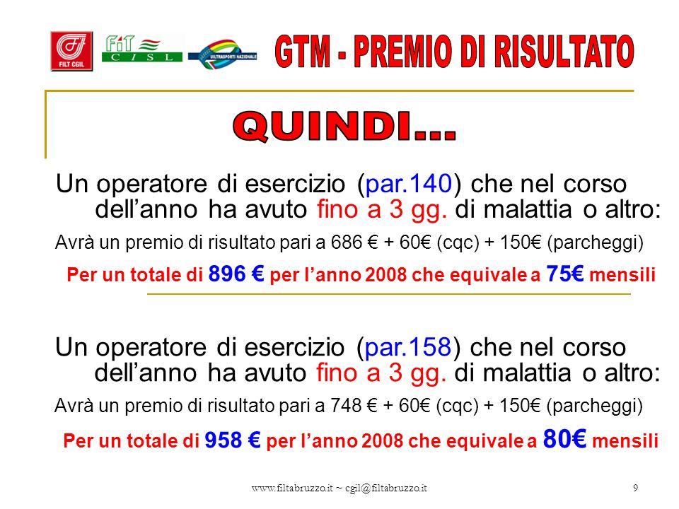 GTM - PREMIO DI RISULTATO