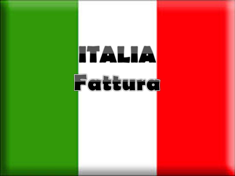 ITALIA Fattura