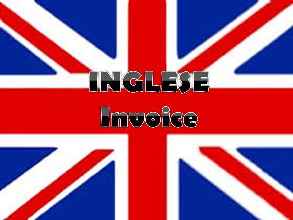 INGLESE Invoice